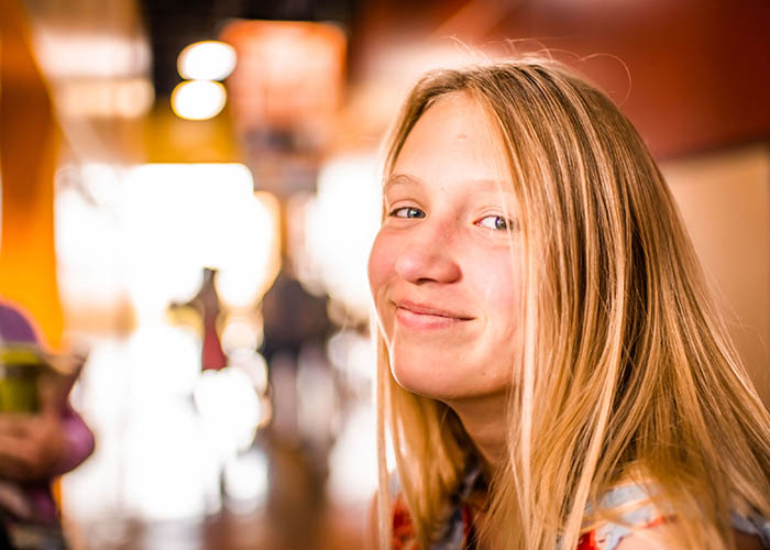 smiling youth girl